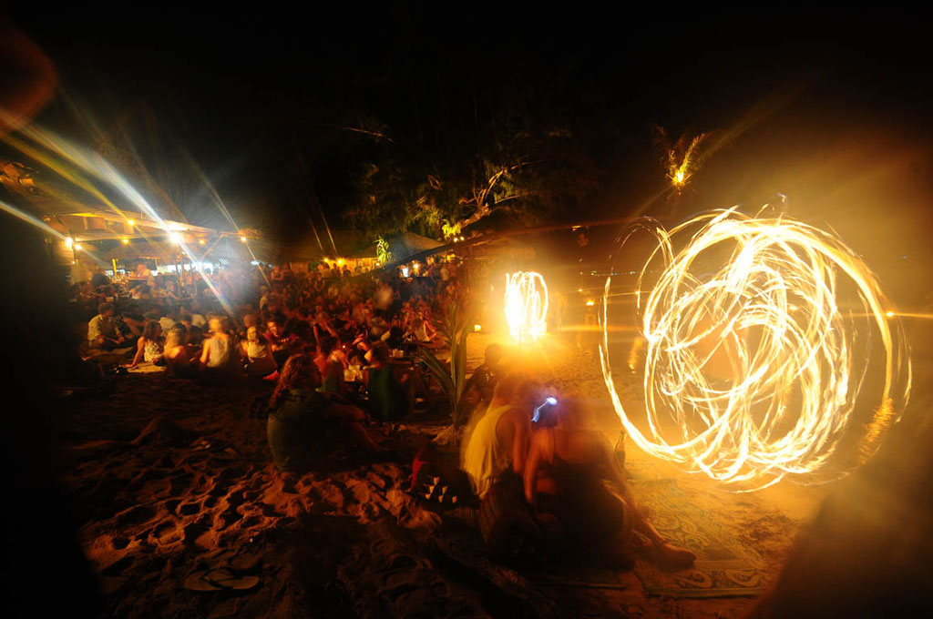 Feuershow auf Koh Tao