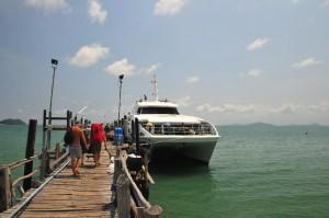 An- und Abfahrt an der Haad Bay