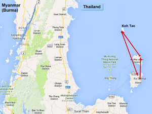 Ihre Inselhopping Reiseroute Koh Samui - Koh Phangan - Koh Tao